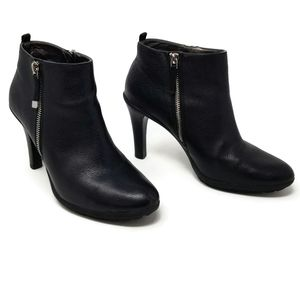 Tahari Terry Pebbled Leather High Heel Bootie 9